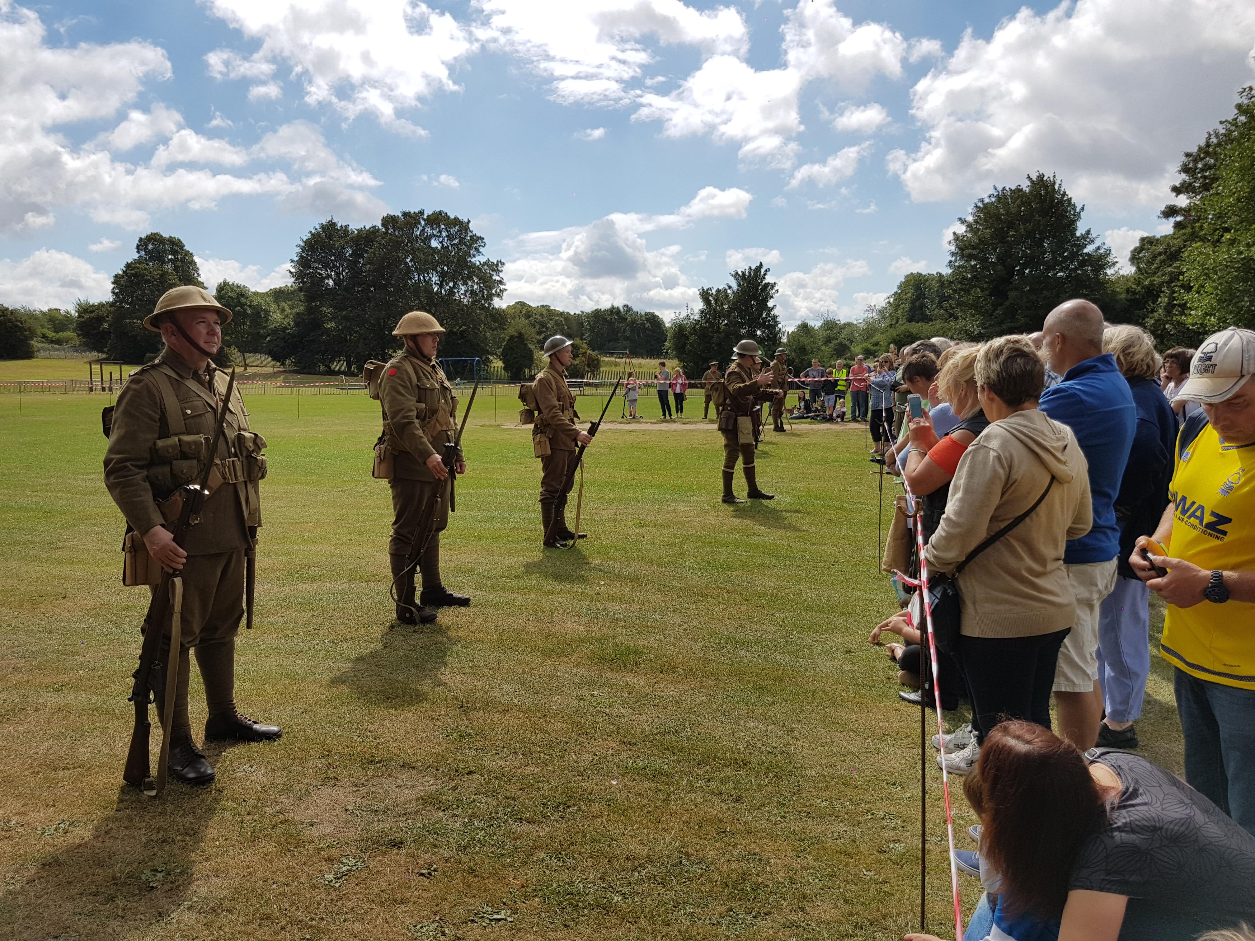 1916 Era British Troops at Wyndham Park