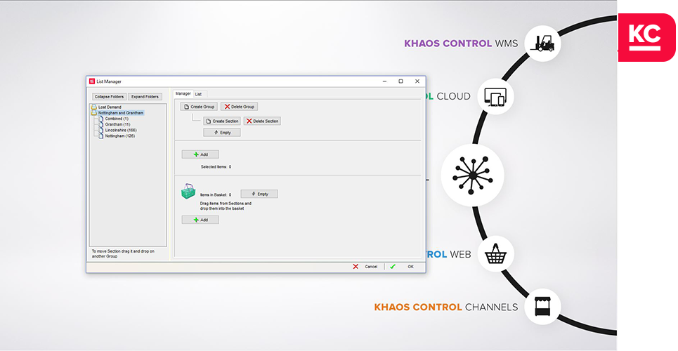 list segmentation software khaos control