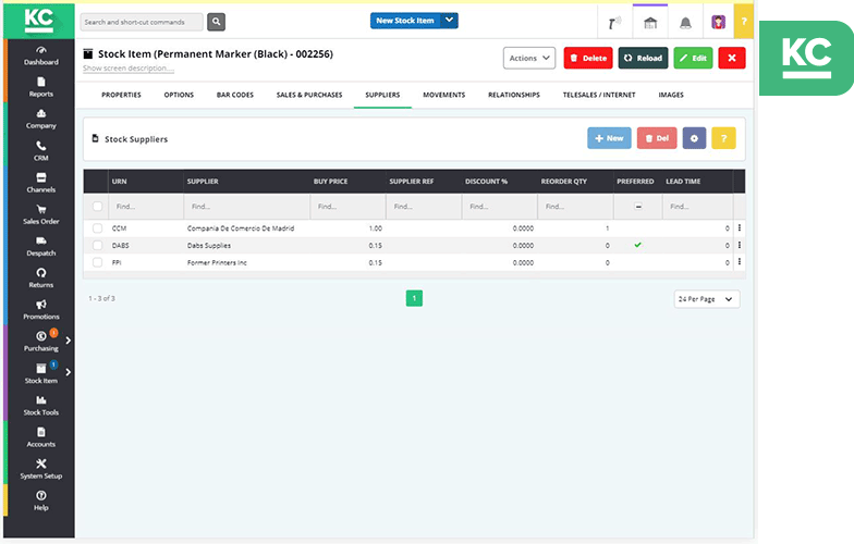 supplier inventory management khaos control