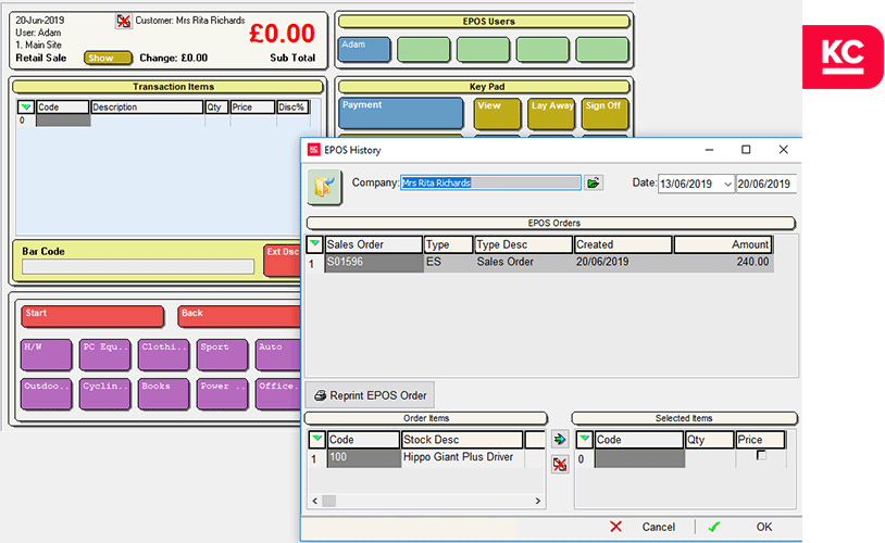 fully integrated epos software khaos control