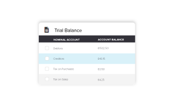trial balance software